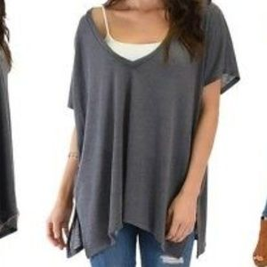 Lyss Loo Women's Wide V Neck Oversized Thermal Top